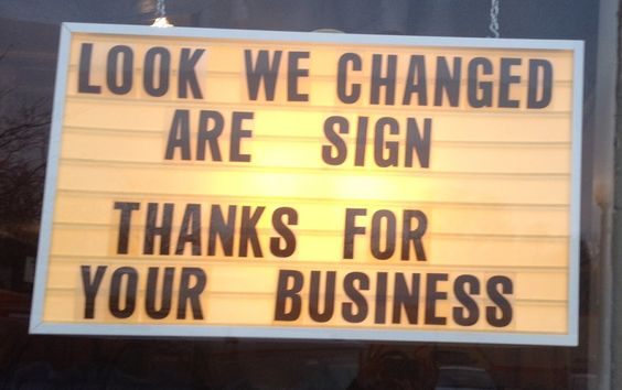 Submitted by a student, taken in a nearby town. #grammarfail