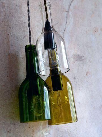 diy decoration light Les lampes-bouteille éclairage
