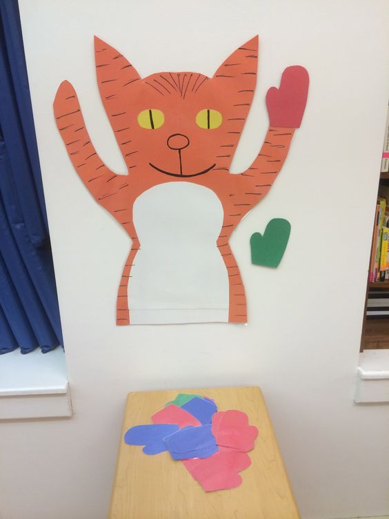 Pin The Mitten On The Kitten A Game I Created From The Storybook Three Little Kittens Preschool Fun Classroom Fun Nursery Rhymes