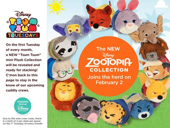 Zootopia Tsum Tsum Series Coming In February:
