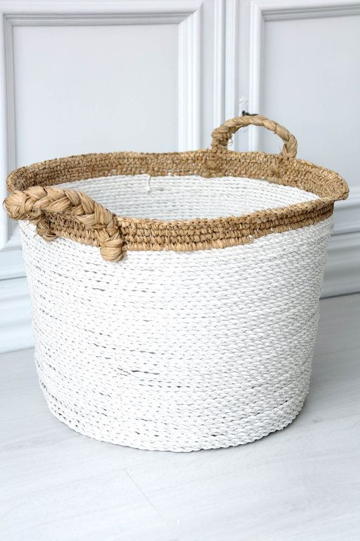 15+ White wicker basket with handle info