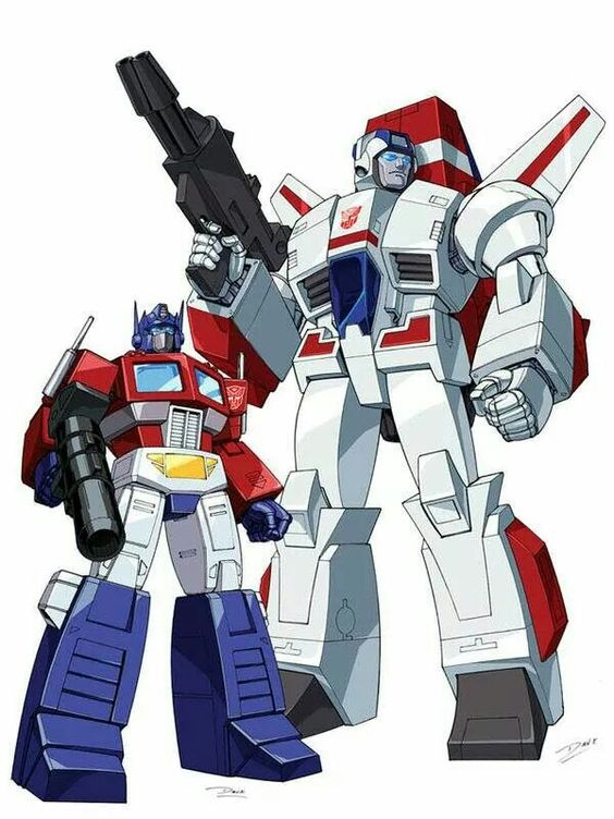 Transformers Generation 1 Cartoon Characters : Transformers optimus prime and jetfire autobots