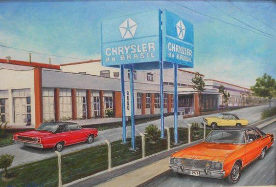 1970's Chrysler Brasil Painting by: paulo.emisulv8@yahoo.com.br via Chrysler Clube do Brasil