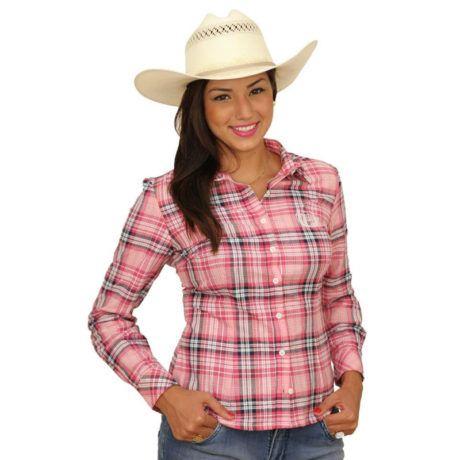 camisetes femininas xadrez moda country