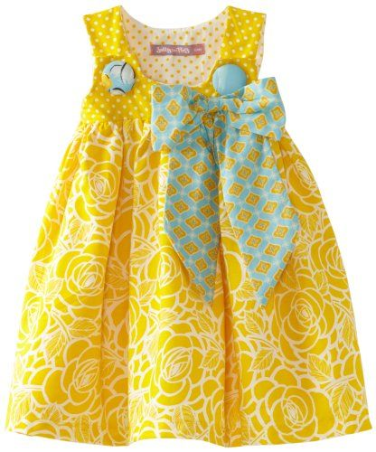 Jelly The Pug Baby-Girls Infant Poem Puffy Yellow Dress