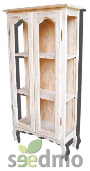 Vitrina pata ondulada puertas para cristal lowcost decoracion mueble tu tienda online - Tu mueble on line ...