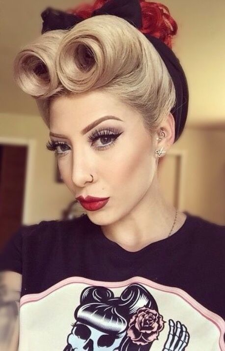 pin rockabilly style vintage hair and makeup styles clothing on pinterest. Black Bedroom Furniture Sets. Home Design Ideas