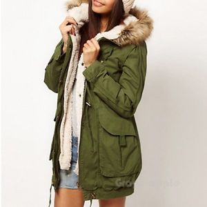 Details about Fashion Women's Thicken Fleece Warm Winter Coat Hood
