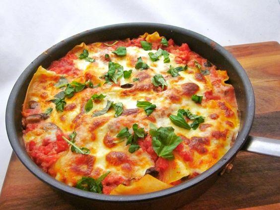 Skillet lasagna is the perfect meal for a cozy night in! Recipe courtesy of Around the Table