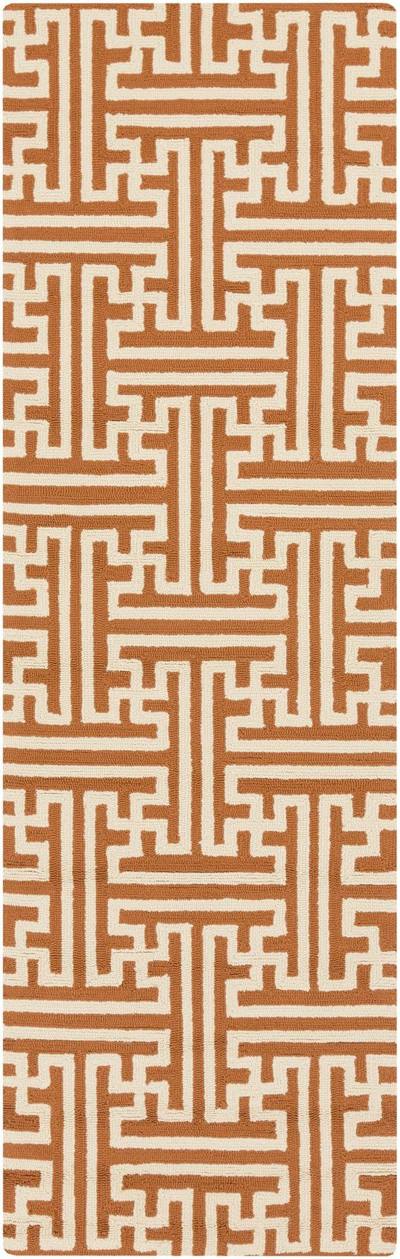 Surya RAI1192 Rain Orange Runner Area Rug