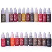 Frete grátis 10 pcs Pigmentos de Tatuagem Para Sobrancelha Lábios Maquiagem Permanente Nunca Mudam de Cor Tatuagem Tintas 20 Cores para Escolher(China (Mainland))