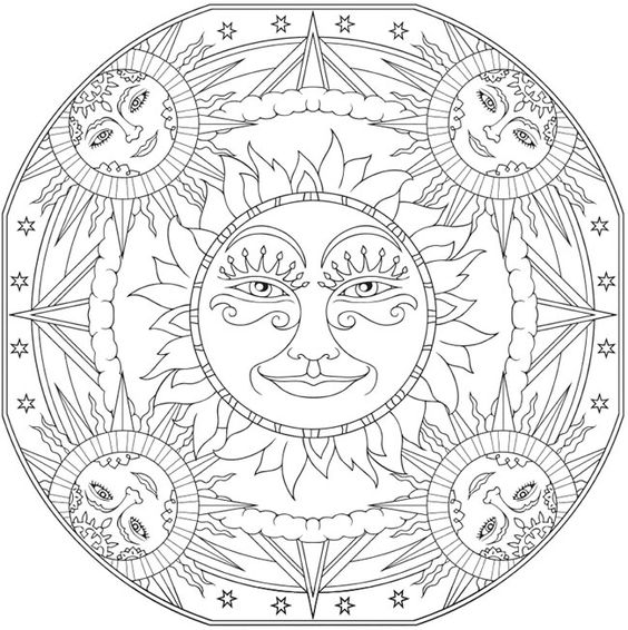 celestial coloring pages - photo#10
