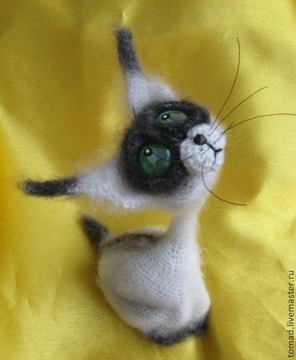 Игрушки животные, ручной работы. Ярмарка Мастеров - ручная работа. Купить Сиамский Кот. Handmade. Кот, вязаный кот