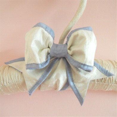 Padded  Hanger  Silk Ribbon Custom Colors by tokyoblues on Etsy