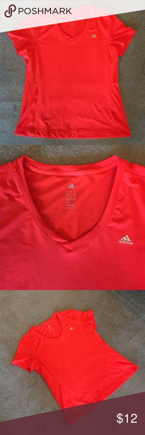 Adidas Exercise Shirt Adidas, slight v-neck, short sleeved exercise top Adidas Tops Tees - Short Sleeve
