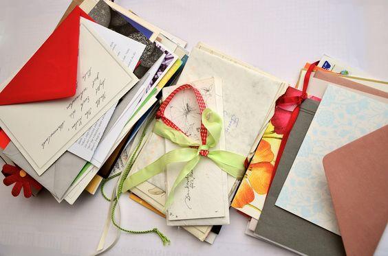 Letras, Cartões, Penpal, Papel, Deixar, Envelope, Post