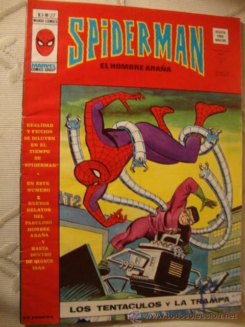 VERTICE MARVEL MUNDI COMIC SPIDERMAN SPIDER-MAN VOL.3 Nº 27 - RQ .
