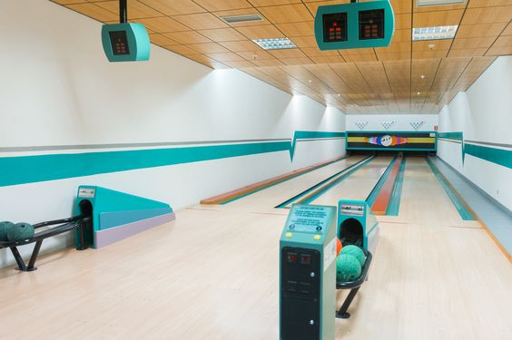 Our bowling alley at The Suites at Beverly Hills