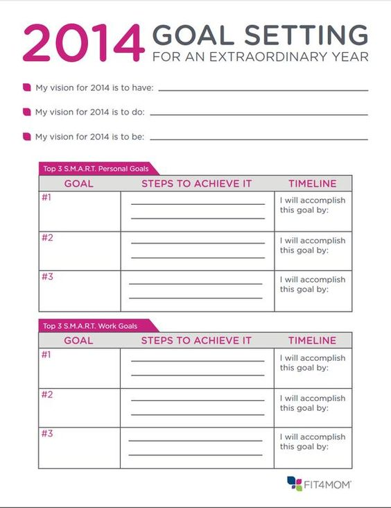 Printables Fitness Goals Worksheet mom 2015 goals and nice on pinterest lets try some goal setting that actually works this year largest fitness program for moms