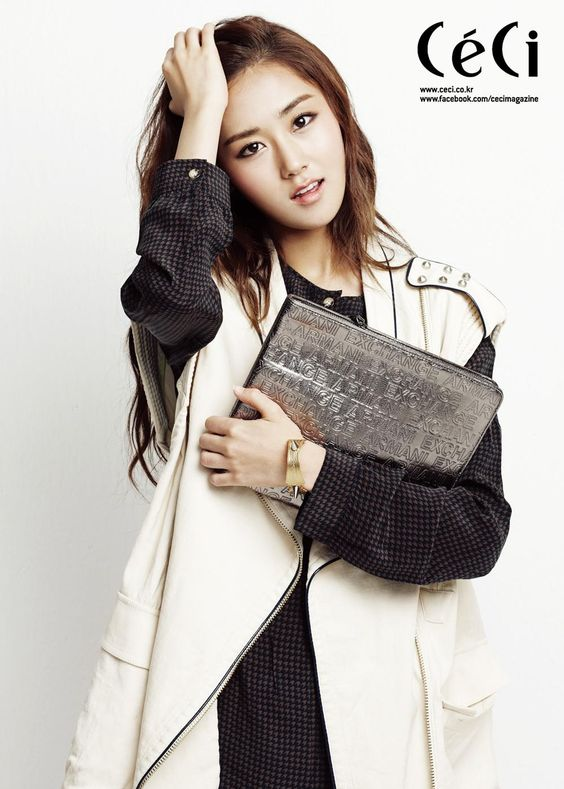 Gayoon posing in a photoshoot for CéCi Magazine September Issue 2012.