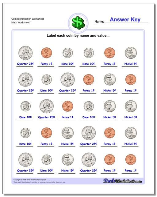 Https Www Dadsworksheets Com Coin Identification Worksheet Money Worksheet Money Worksheets Kindergarten Worksheets Kindergarten Worksheets Printable