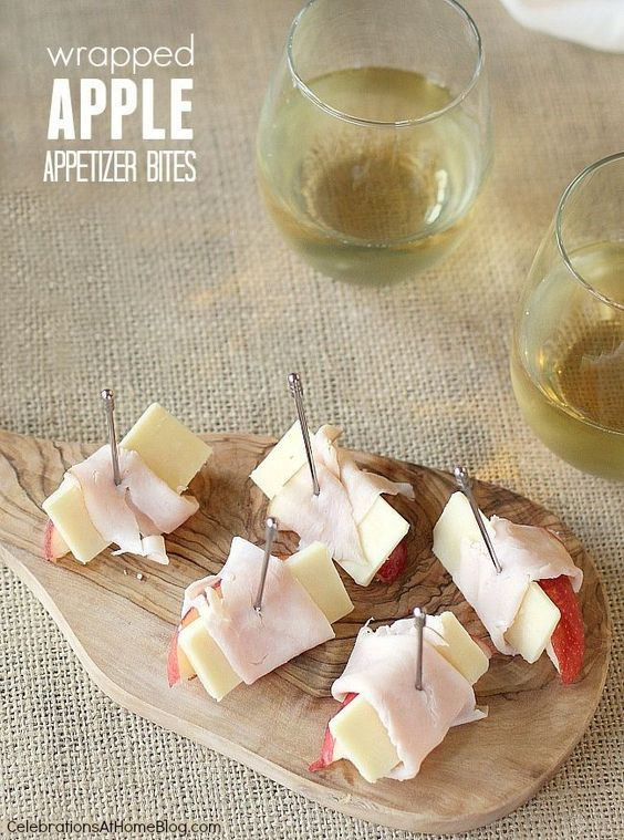 Wrapped apple appetizer bites are light, easy to put together, and taste great.
