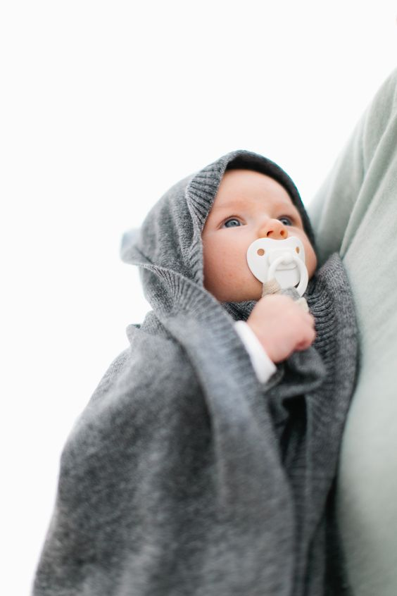 La Petite V! Cashmere baby blanket and pacifier holder! www.lapetitev.com