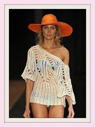 * Pérolas do Crochet: Blusa de Croche - Desfile Carlos Miele