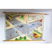 ein großes Rollbild als Deco fürs Kinderzimmer oder für den Flur