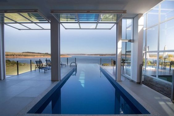 Indoor Outdoor | Pool Photos | Backyard Ideas | Modern Architecture | Lake Furnas | Custom Home | Interior Design