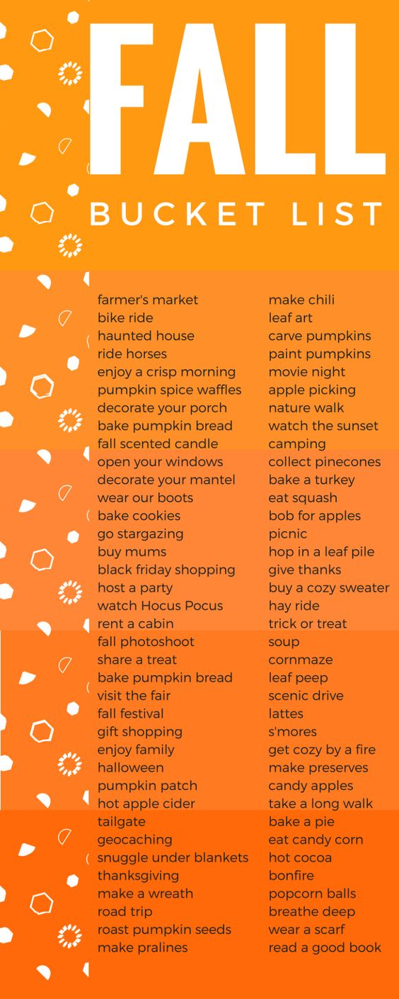 I LOVE Fall and this list is EVERYTHING. I can't wait to DO IT ALL!! Click to get the printable version.