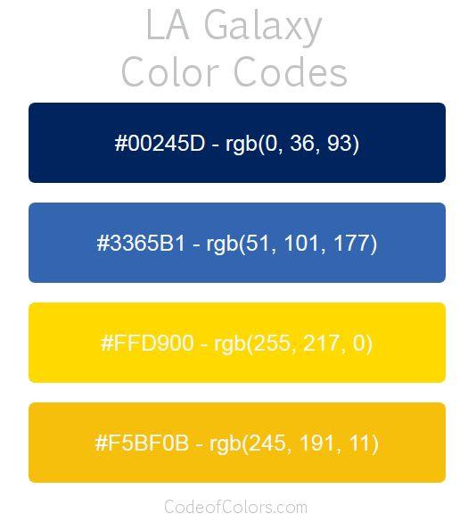 la galaxy team color codes