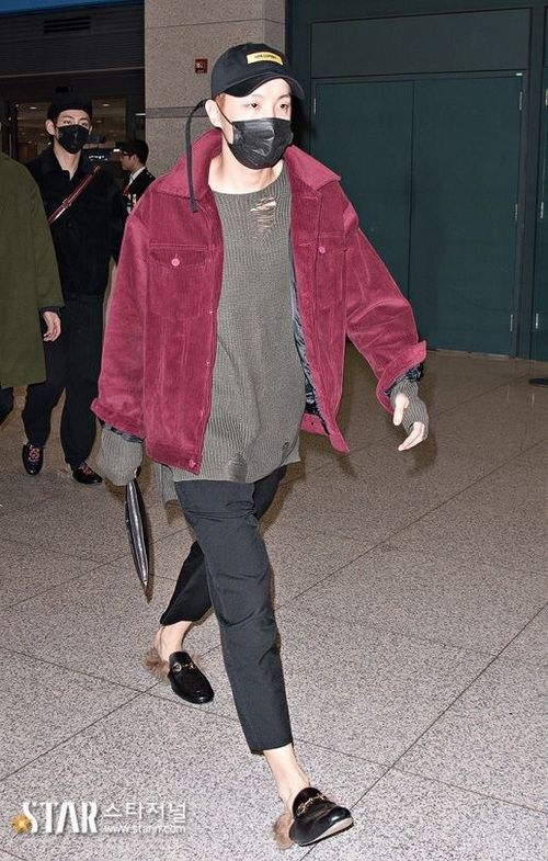Bts Jhope Outfit Airport Fashion Mode Vetements Koree