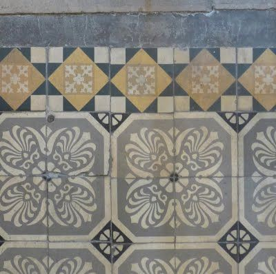 old tiles. nice combination of colors.