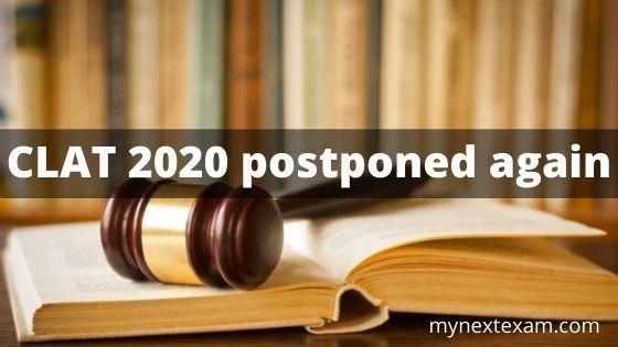 Clat 2020 Postponed Again In 2020 Indian Education Online Application Education
