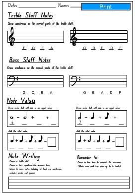 Printables Basic Music Theory Worksheets music worksheets theory and on pinterest basic worksheets