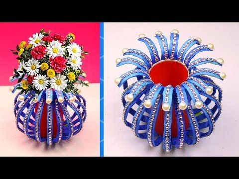 Diy Simple Paper Craft How To Make A Flower Vase At Home