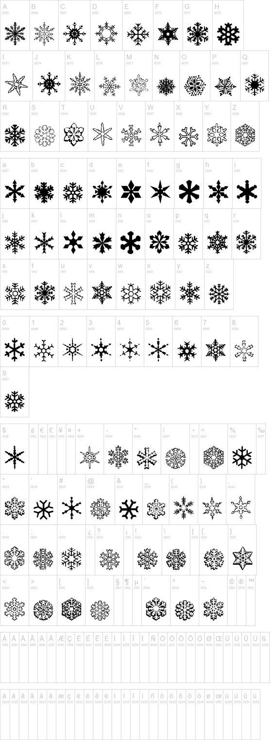 a snowflake font: