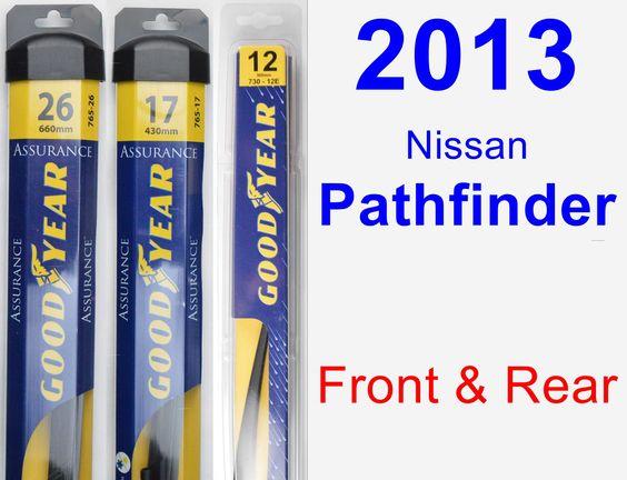 Front & Rear Wiper Blade Pack for 2013 Nissan Pathfinder - Assurance