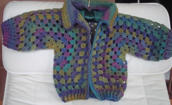 Knit Pattern Hexagon Sweater : Crochet Hexagon Baby Sweater is a lovely pattern made from ...
