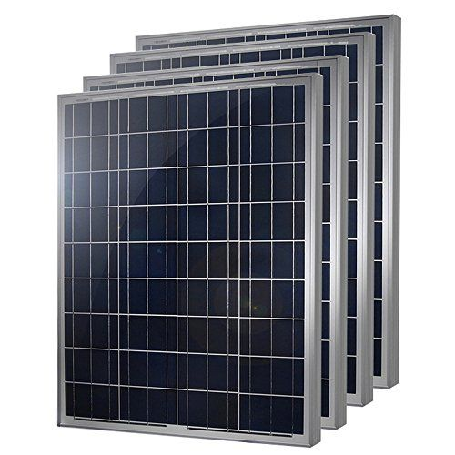 Hqst 4 Packs 100 Watt 12 Volt Polycrystalline Solar Panel With Mc4 Connectors High Efficiency Module Pv Power For Bat In 2020 Solar Panels Solar Flexible Solar Panels