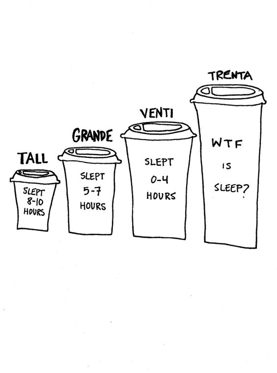 The size of your cup determines your sleeping duration.