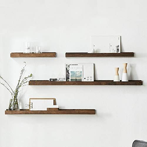Shelf Wall Unit Decor Wall Mounted 4 Sets Of Wooden Floating Wall