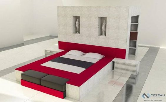 Beautiful Modern Canopy Bed Design Modern Bedroom Designs - Design your own furniture with tetran eco friendly modular cubes