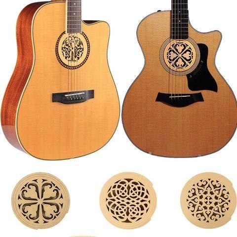 Decorative Wooden Acoustic Soundhole Cover Acoustic Guitar Parts Acoustic Guitar