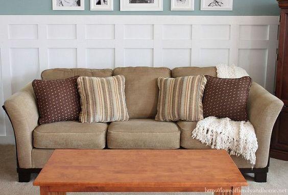 how to fix sofa saggy, diy, painted furniture