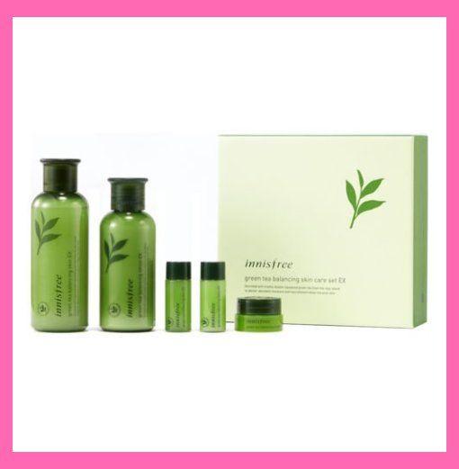 Amazon Com Innisfree Green Tea Balancing Skin Care Set Ex Innisfree Skincare Skincare 30 Skincare Set Skin Care Specials Innisfree Skincare
