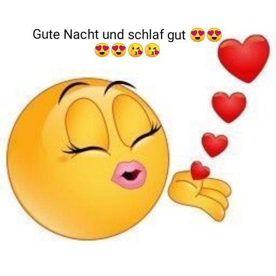 Kuss emoji gute nacht 😚 Küssendes
