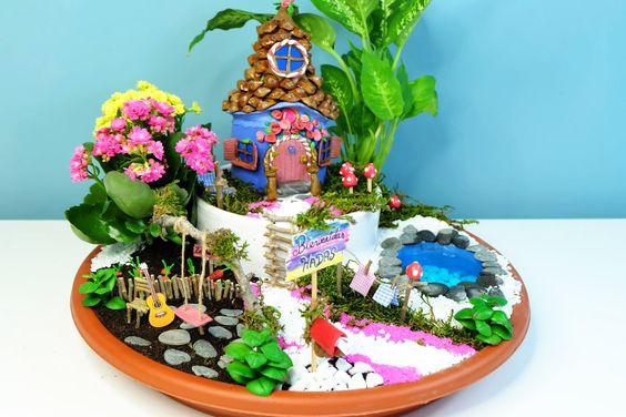 How to make a Fairies Garden cute miniature - DIY fairy house with coke ...
