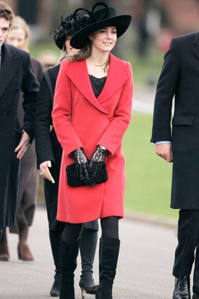 December 15 2006 She wore a red coat with black accessories at the Sovereign's Parade at Sandhurst's Royal Military Academy, when William graduated as an officer. The Queen was also in attendance, which was understood to signify royal approval of the relationship.
